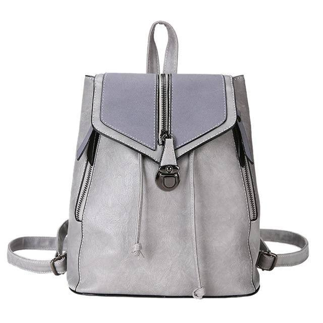 Women's Vintage Matte Leather Backpackbags - Kalsord