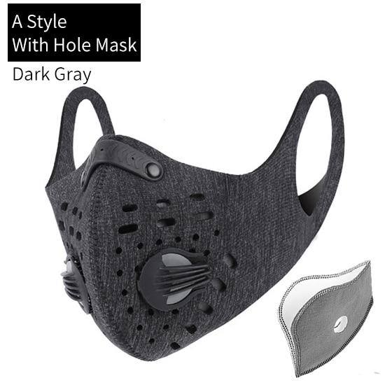 Outdoor activities/Sports/Cycling Activated Carbon PM2.5 Anti-Dust Face Mask W/ Filters - Kalsord
