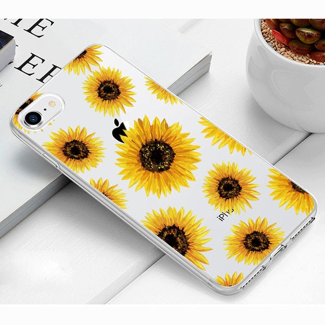 Nature | Floral Silicone Case For iPhone 6 6s 7 8 Plus 5s 6 7 8 Plus XCases - Kalsord