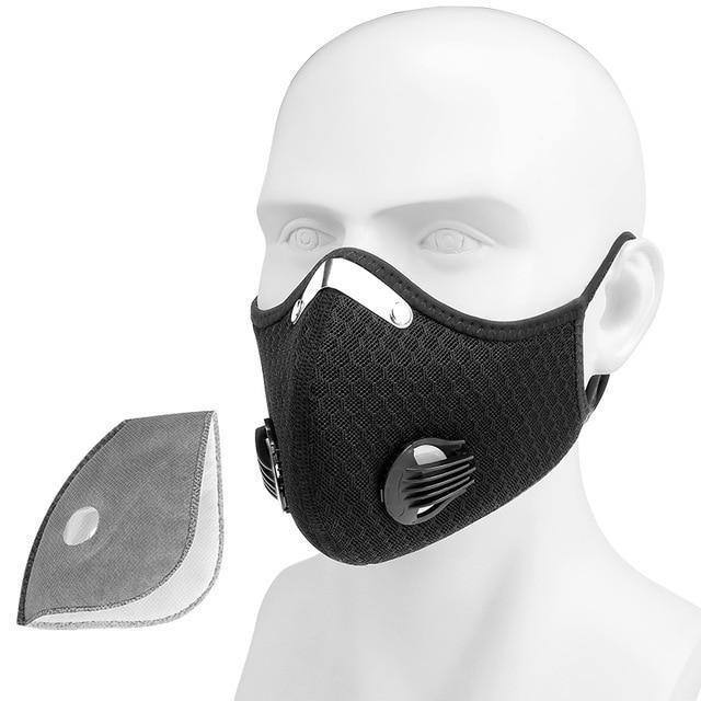 Protective Sports Cycling Face Mask With Filters | Activated Carbon Anti-Pollution/Dust mask - Kalsord