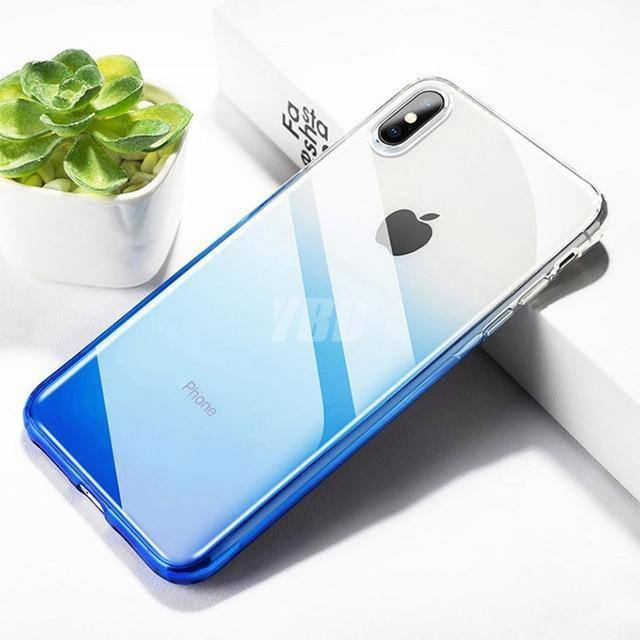 Gradient Colored Transparent Case for iPhone XR 7 8 6 S Plus X XS Max 11 pro Max 11 Pro 11cases - Kalsord