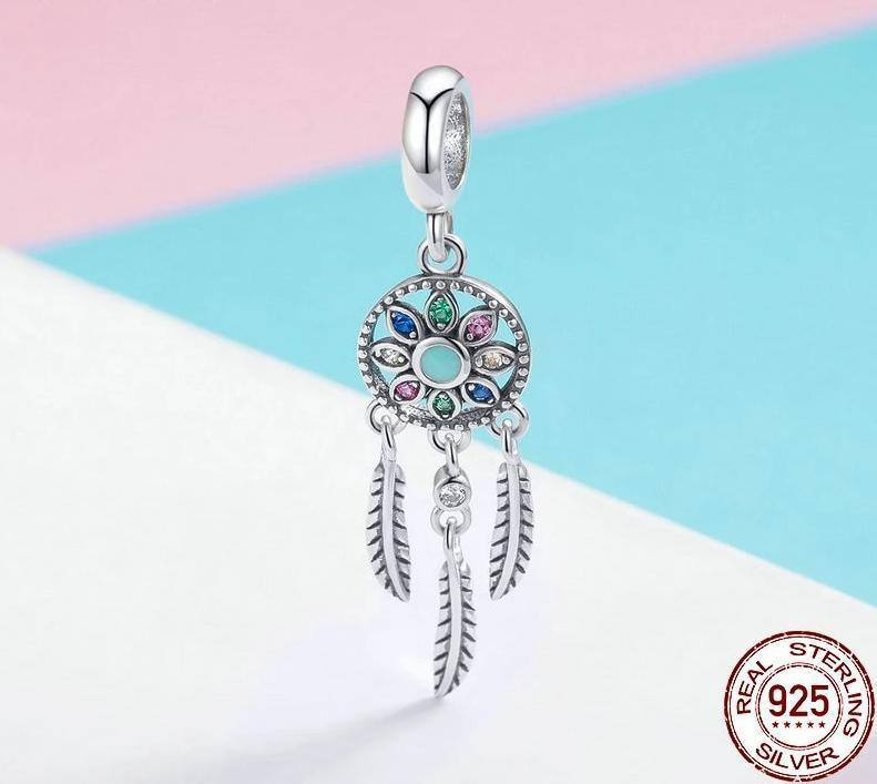 Women's Genuine 925 Sterling Silver Elegant Bohemian Pendant | Bracelet & Necklace Attachment | Jewelry - Kalsord