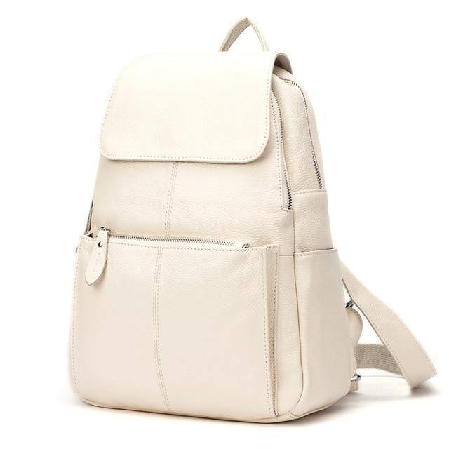 Women's 14 Colors Genuine Leather Preppy Backpack | Travel Bag | Schoolbagbags - Kalsord