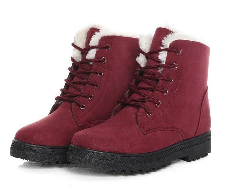 Women's Suede Snow Boots - Kalsord