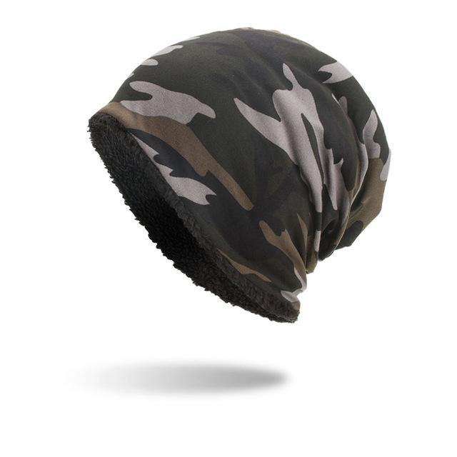 Camouflage Soft Beanie- Army Green, Black, Coffee, WhiteBeanies - Kalsord