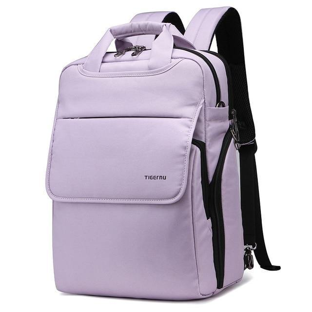Women's Multi-function Backpack/Handbag- Black, Wine Red, Green, Dark Purple, Light Purplebags - Kalsord