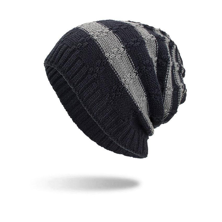 Two-Color Knitted Beanie- 5 ColoursBeanies - Kalsord