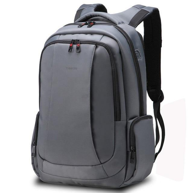 Men's Nylon Anti Theft 15.6 inch Laptop Backpack- Black, Coffee, Silver Grey, Dark GrayBackpack - Kalsord
