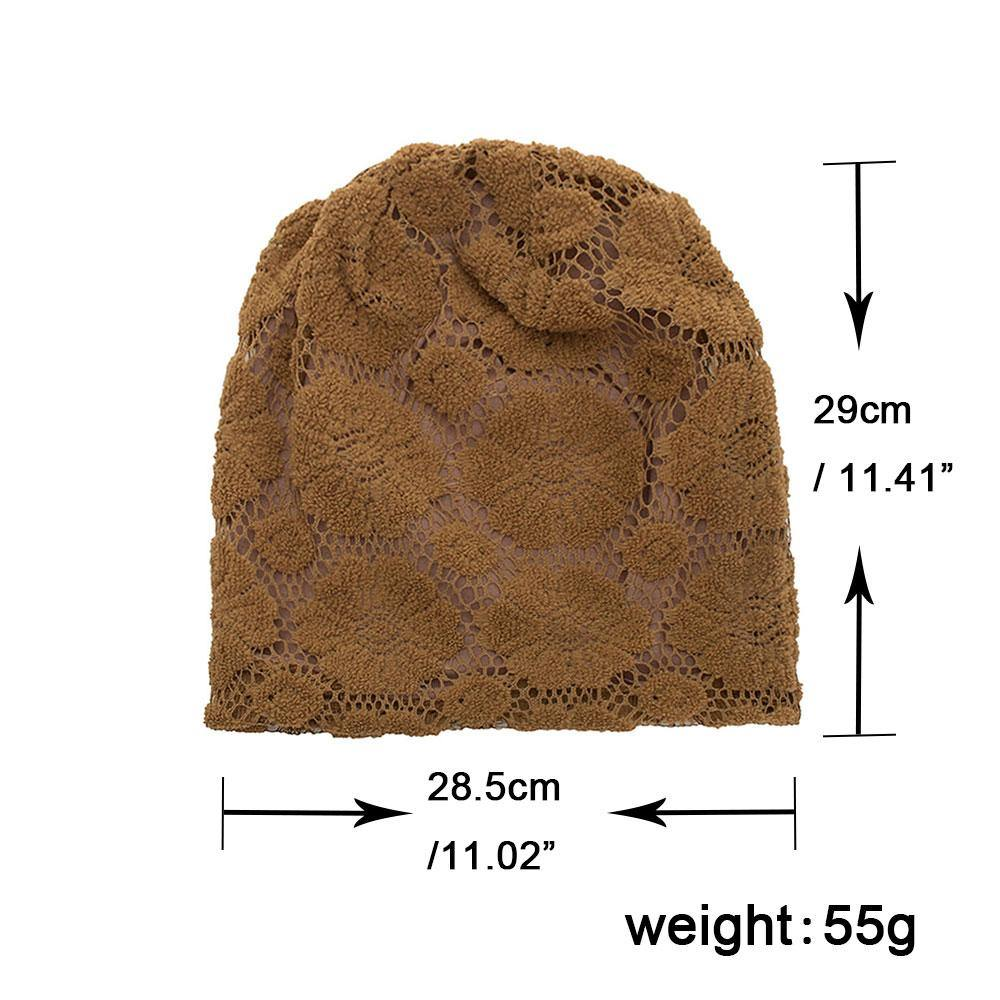 Women's Flower Lace Beanie- 5 ColoursBeanies - Kalsord