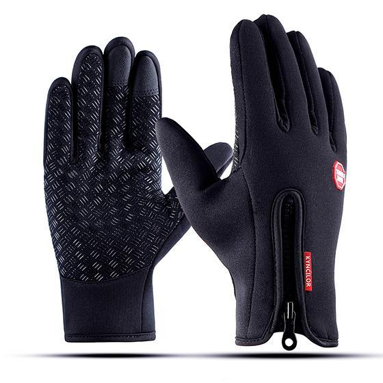 Warm Winter Anti-Slip Gloves For Outdoor Sports Cycling- Black, Lake Blue, Rose RedGloves - Kalsord