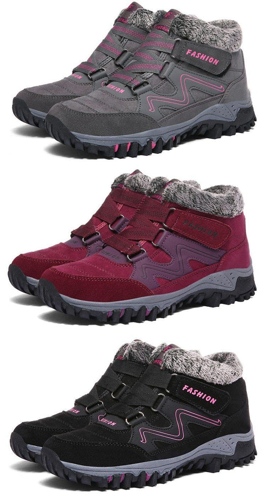 Men's High Quality Rubber Snow Boot- Wine Red, Blue, Grey, Black - Kalsord