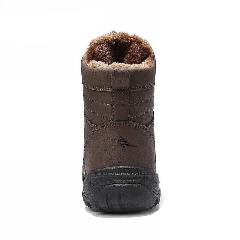 Men's Fashionable Ankle Snow Boot- Black, Brown - Kalsord