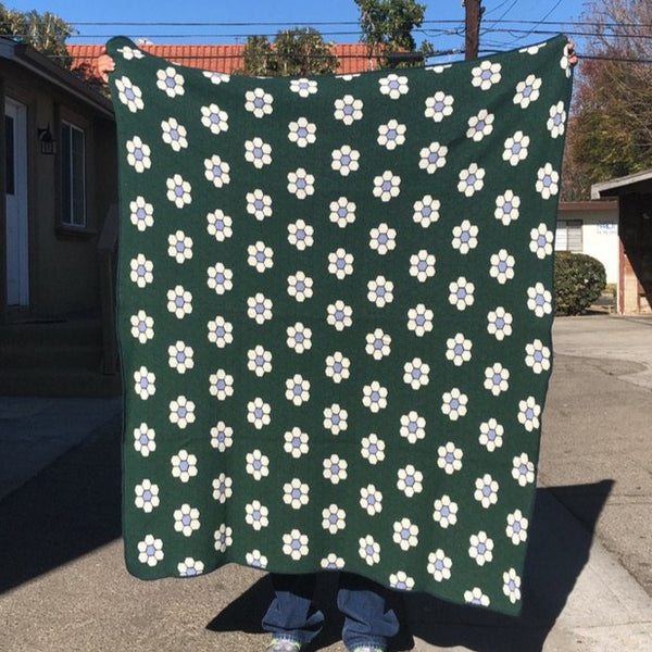 Knit Blanket - Hex Flower Tile