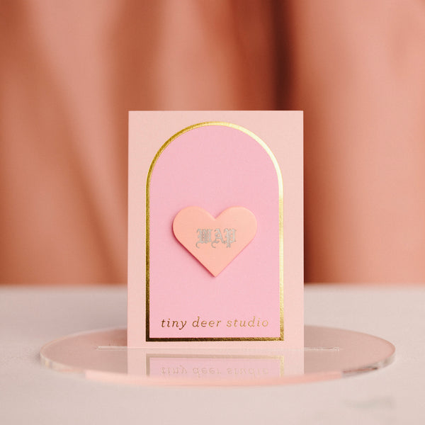 Custom Engraved Pin - Solid Heart