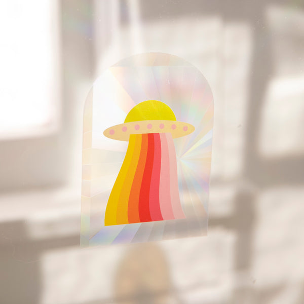 Sun Catcher Decal - UFO