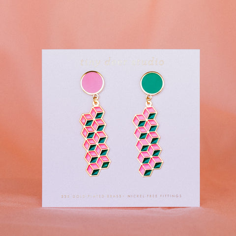 Geo - July19 - Friendship Bracelet Translucent Drop Earrings (PAIRS)