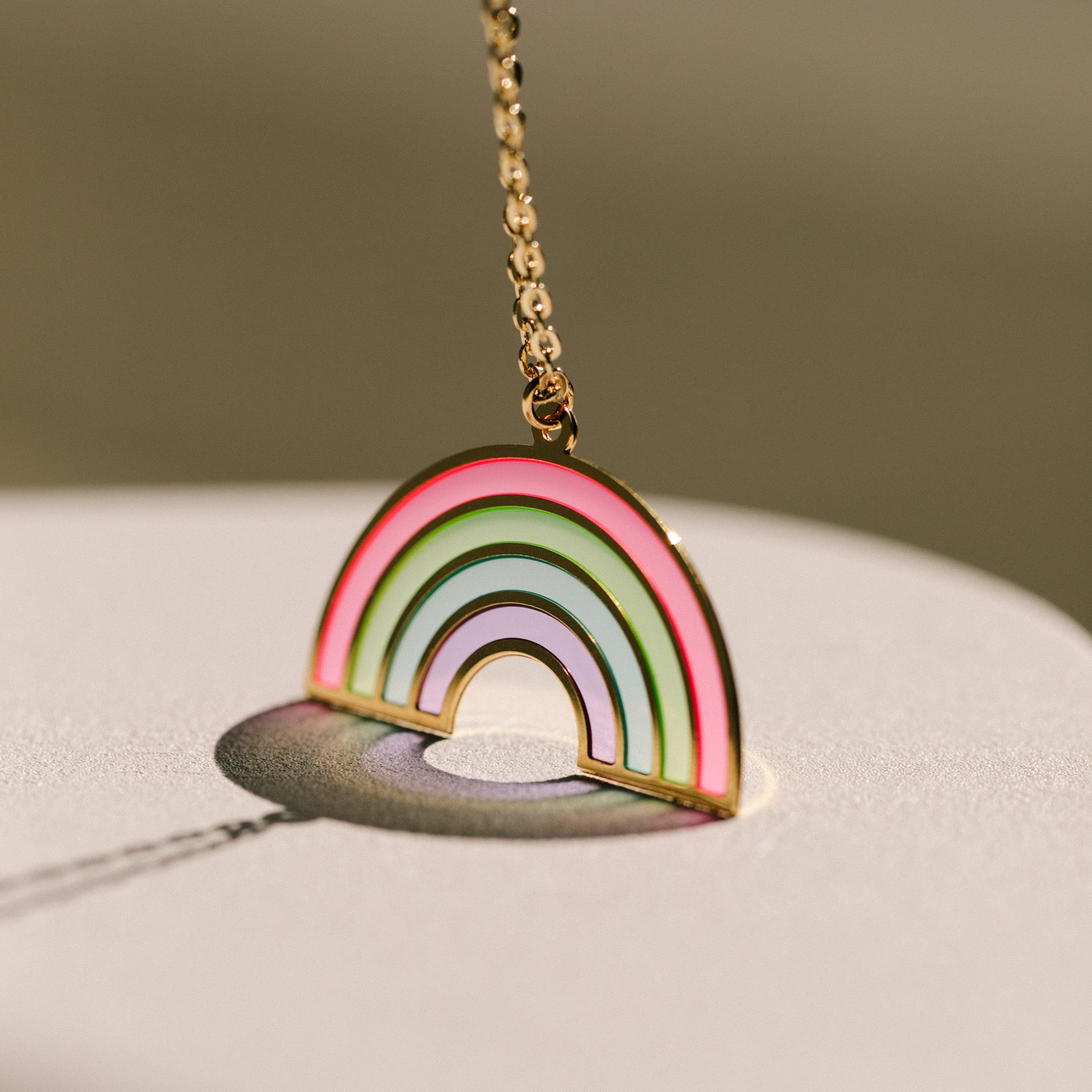 Rainbow Translucent Necklace