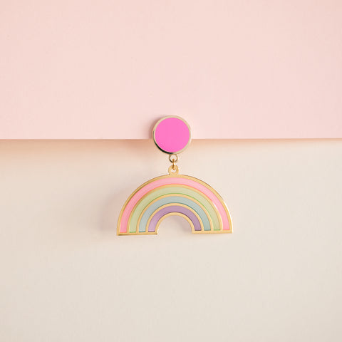 Geo - Rainbow Translucent Drop Earrings (PAIRS)
