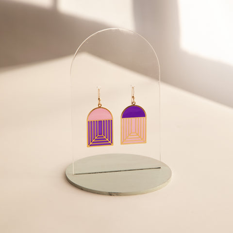 Arch - Translucent Earrings (Berry Pie)