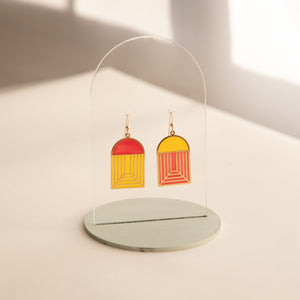 Arch - Translucent Earrings (Ketchup and Mustard)