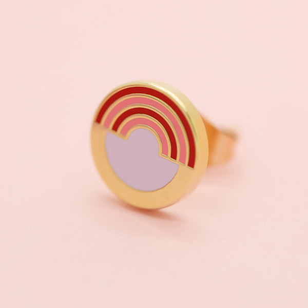 Geo - July19 - Rainbow Round Earrings