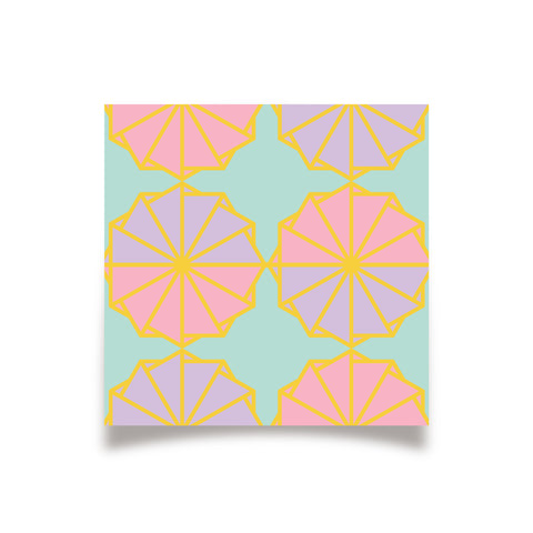 Geo - March19 - Fan Tile PRINT