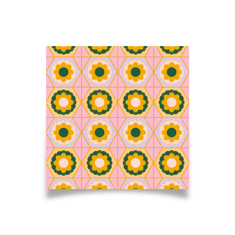 Geo - Nov 18 - Flower Tile Print (AP)