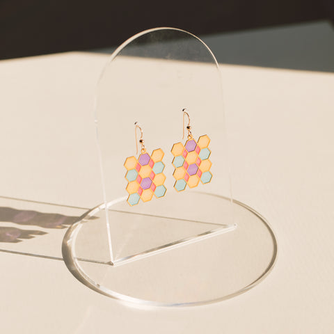 Tile Translucent Drop Earrings (PAIRS)