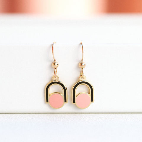Circle Arch Drop Earrings (PAIRS)