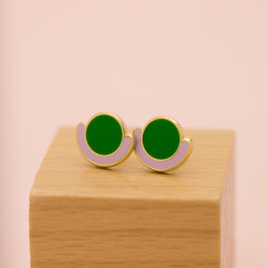 Geo - Sept19 - Circle Cradle Earrings