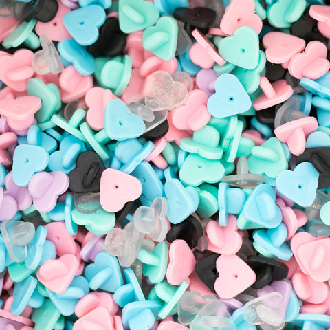 Heart-Shaped Rubber Caps