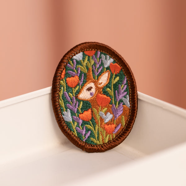 Floral Deer Brooch with Justine Gilbuena