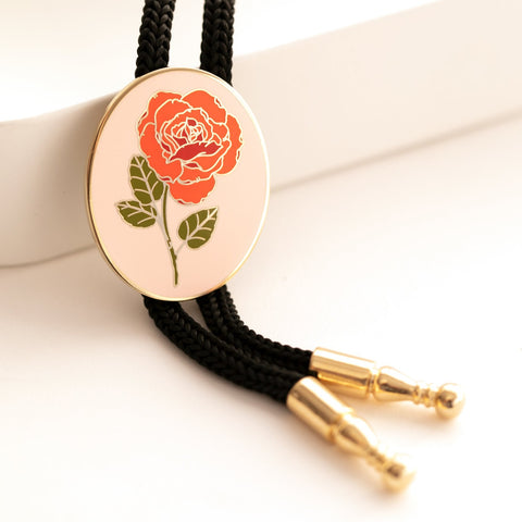 PEACH Rose Bolo Tie with Natelle Quek