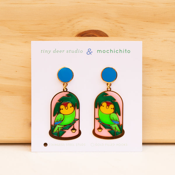 Bell Jar Translucent Drop Earrings with Mochichito (PAIRS)