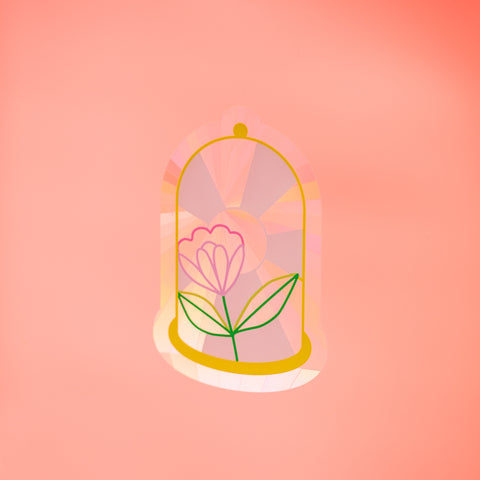 Sun Catcher Decal - Bell Jar with HAVE A NICE DAY