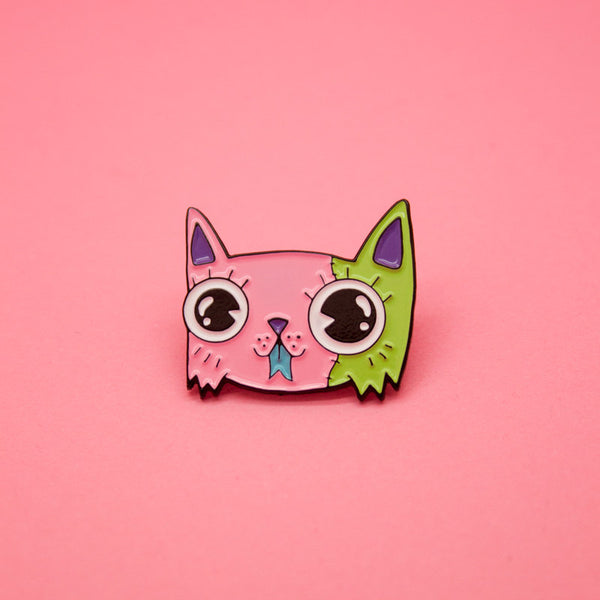 Monster Kitty Pin by Wizard of Barge