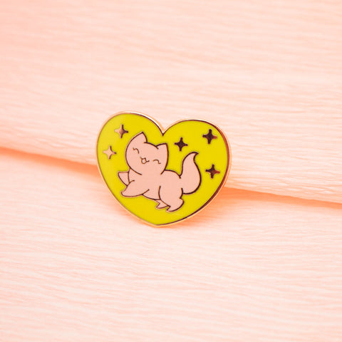 Sparkle Kitty Pin by The Pink Samurai