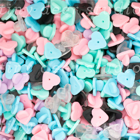 Heart Shaped Rubber Pin Caps
