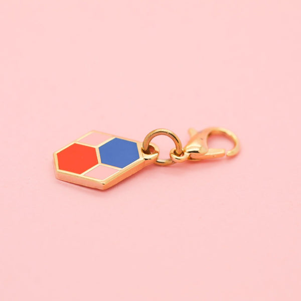 Geo - Jan19 - Tiny Hex Tile Charm