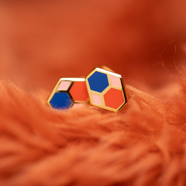 Geo - Hex Tile Earrings