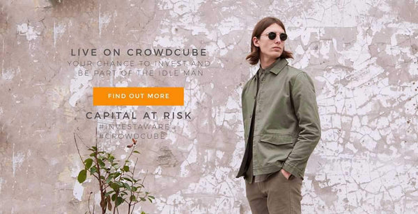 the idle man crowd cube campaign|The Idle Man Crowd Cube Image|The Idle Man Crowd Cube CEO Oliver|The Idle Man Crowd Cube Street style brown jacket blue shirt
