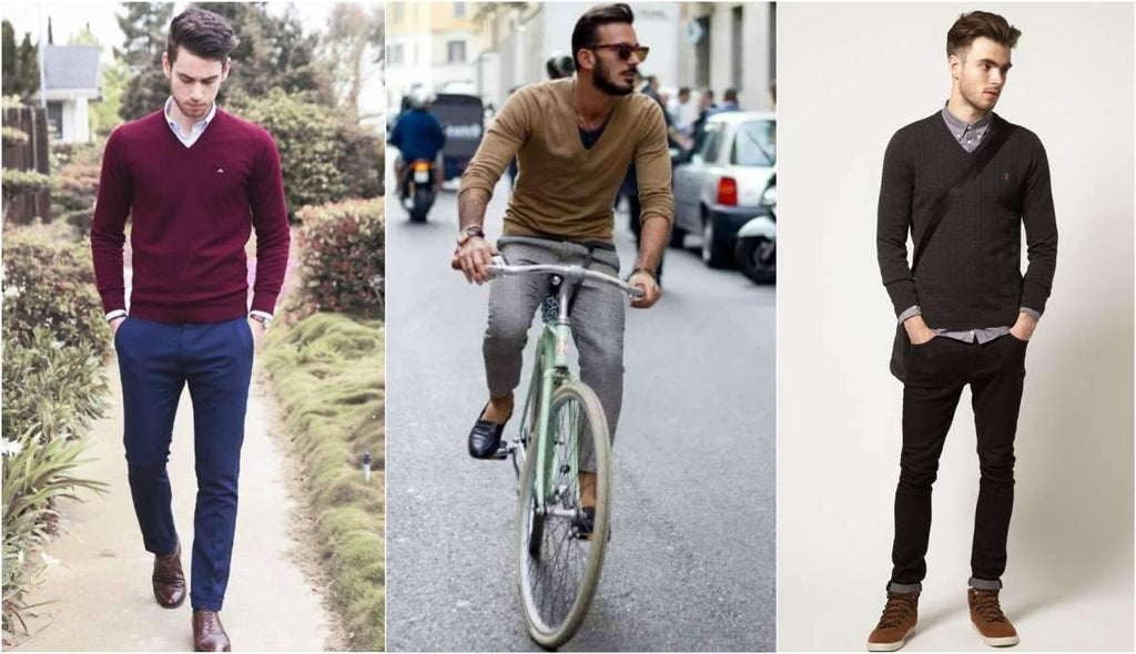 b20e8c9f649 How To Wear A V-Neck Jumper