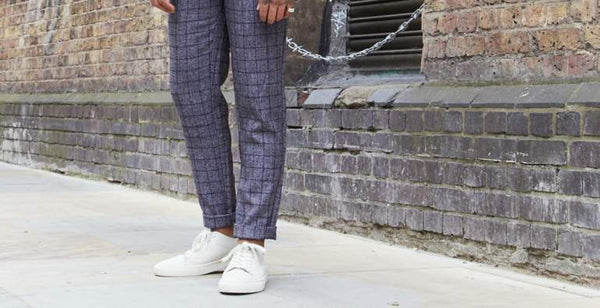 how to wear shoes no socks mens street style white trainers mens street style|THE IDLE MAN Mens Smart Check Coach Jacket Navy|shoes drying on a washing line|how to wash trainers in the washing machine