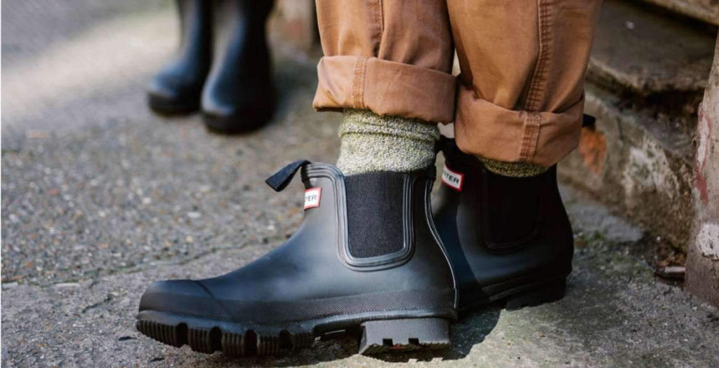 18939d6c403a How to Wear Hunter Rain Boots for Men
