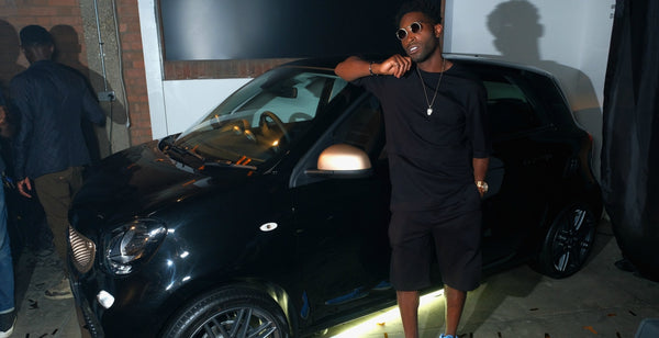 tinie tempah smart car launch|tinie tempah black t-shirt black shorts blue trainers mens street style|