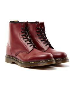 Red Dr Martens mens boots