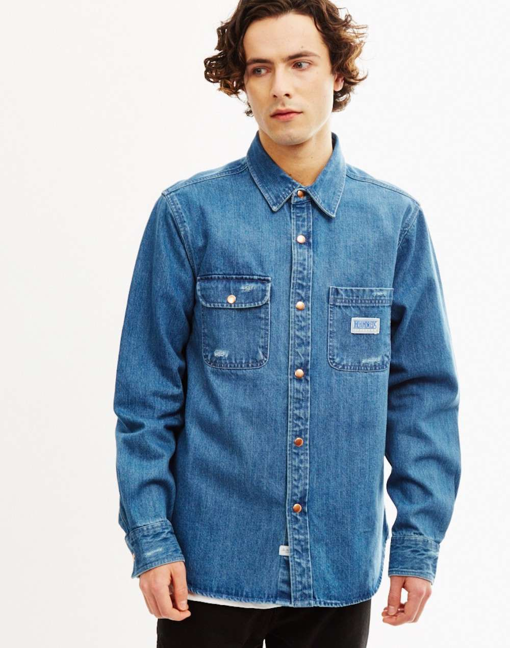 The Hundreds Mens Denim Shirt
