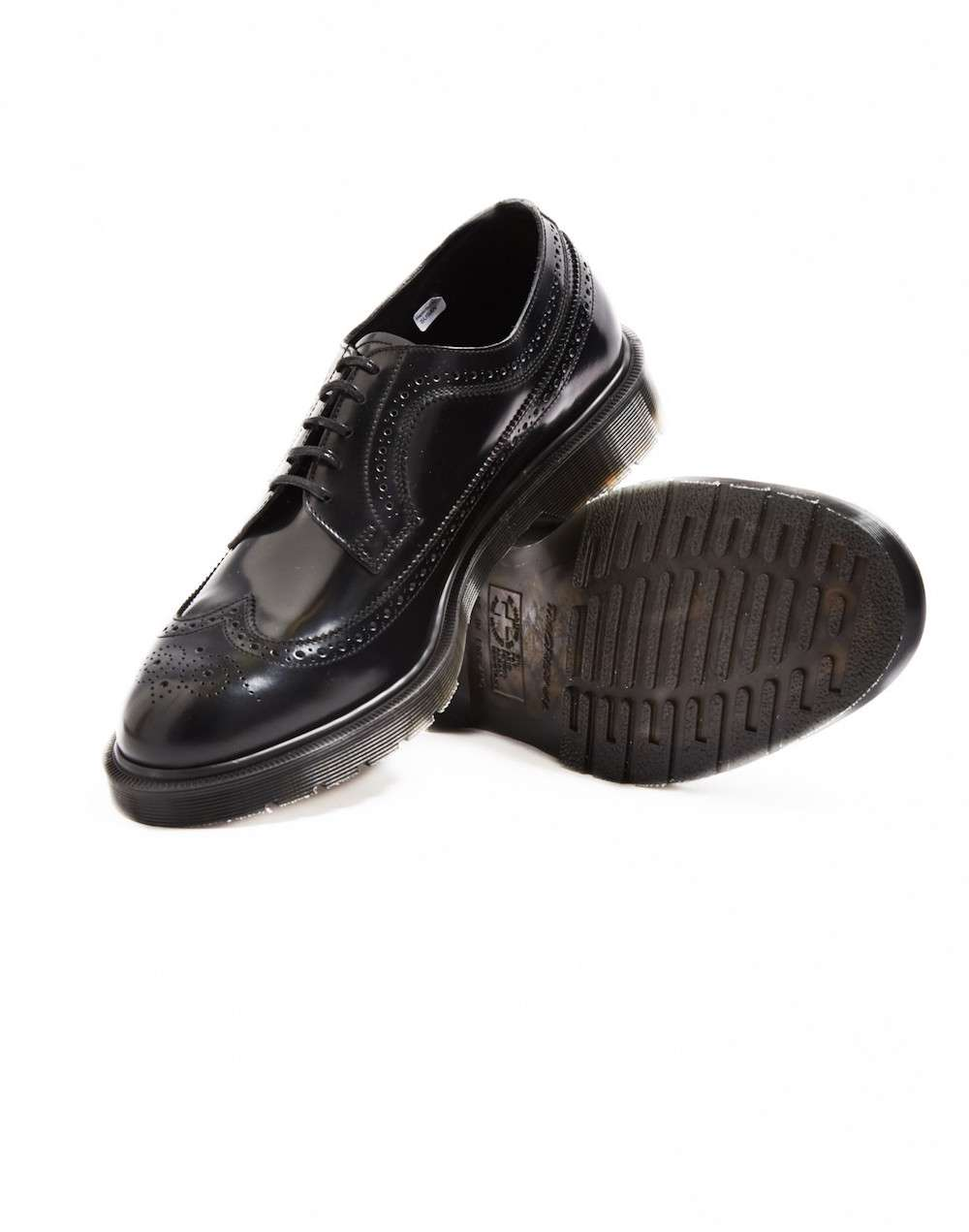 Patent leather black brogues Dr Marten men