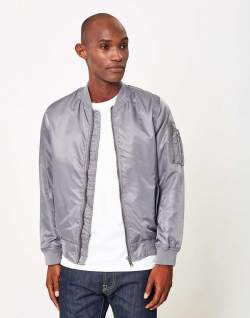 Mens MA-1 bomber jacket nylon the idle man