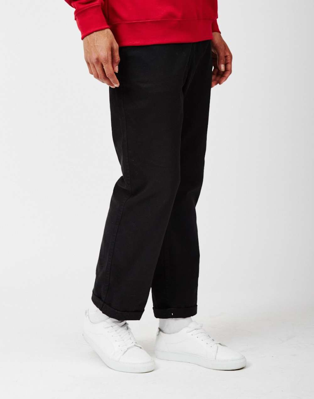 The Idle Man Black Chinos men